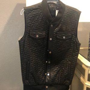 Men's Faux Leather Vest